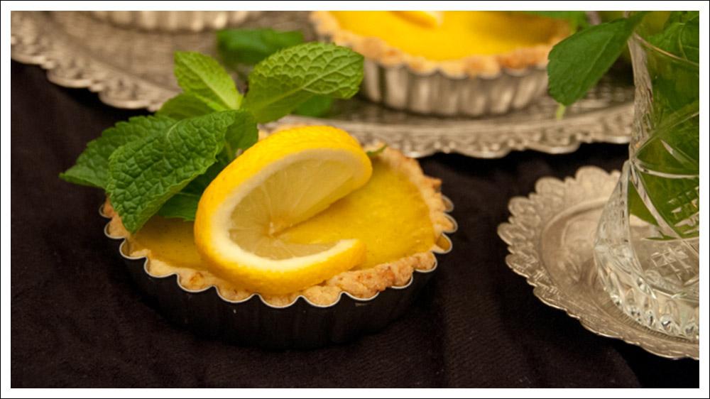 vegane Zitronentartelettes