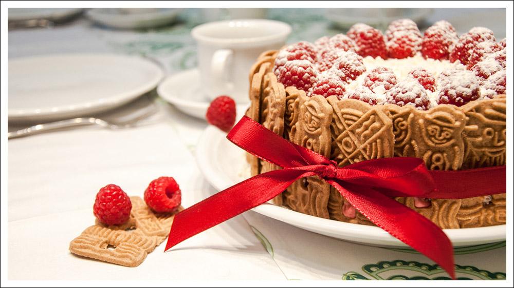Himbeer-Spekulatius-Kuchen
